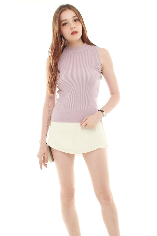 *BACK IN STOCK* Basic Sleeveless Knit Top in Blush