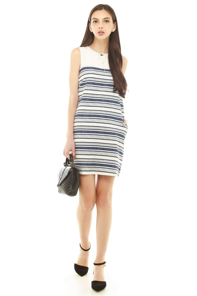 *BACK IN STOCK* ACW Colourblock Striped Shift Dress