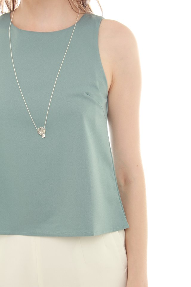 *Backorder 3* ACW Pleated Shell Top in Turquoise