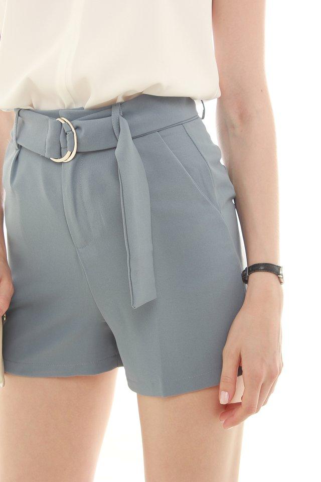 D-Ring Pocket Shorts in Ash Blue