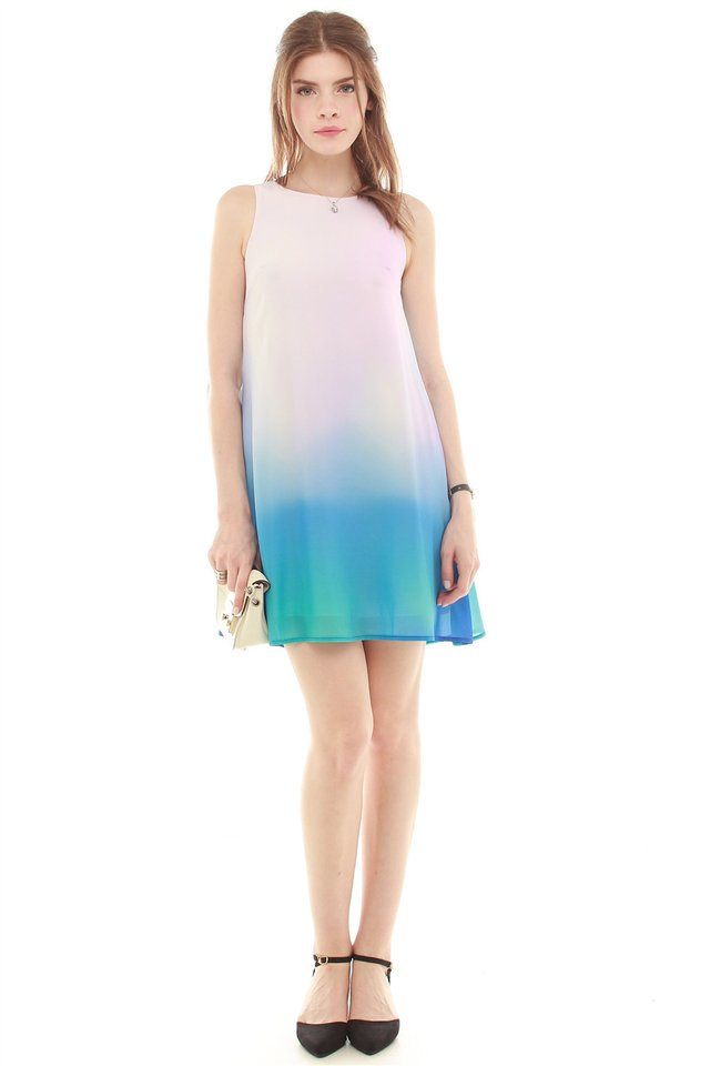 Ombre Trapeze Dress