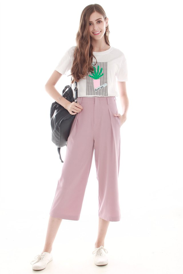 ACW Straight Cut Culottes in Dusty Pink