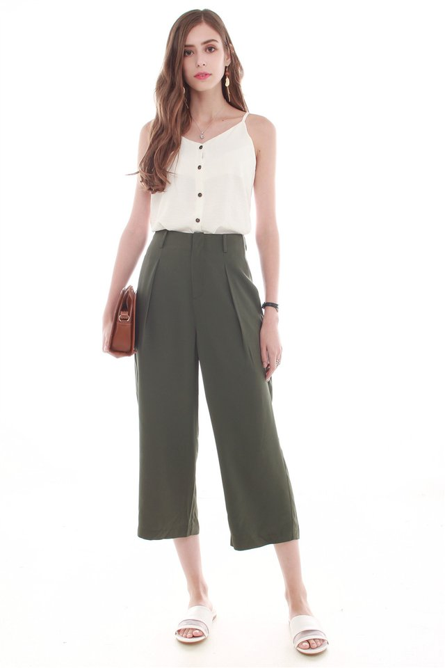 *Backorder* ACW Straight Cut Culottes in Olive (S/M)