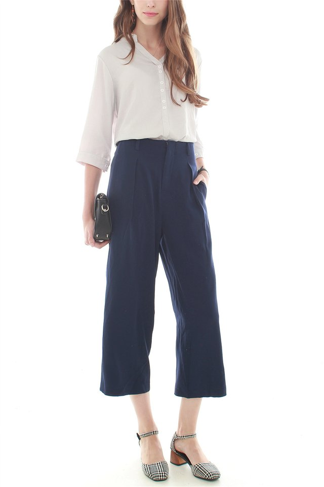 ACW Straight Cut Culottes in Navy (XS/L)