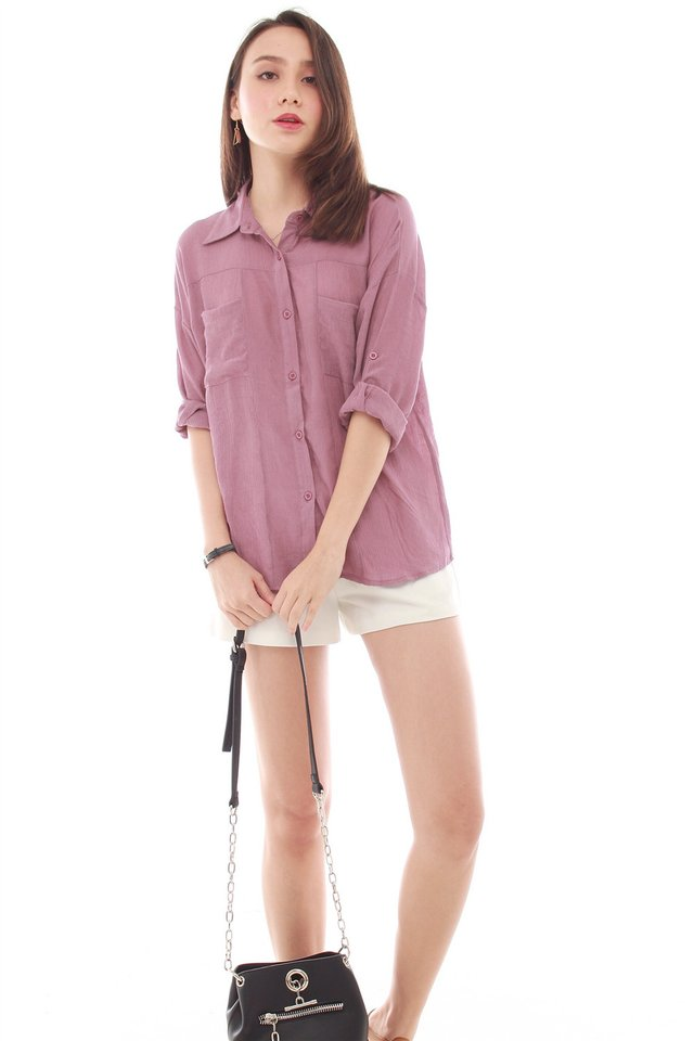 Button Down Shirt in Mauve