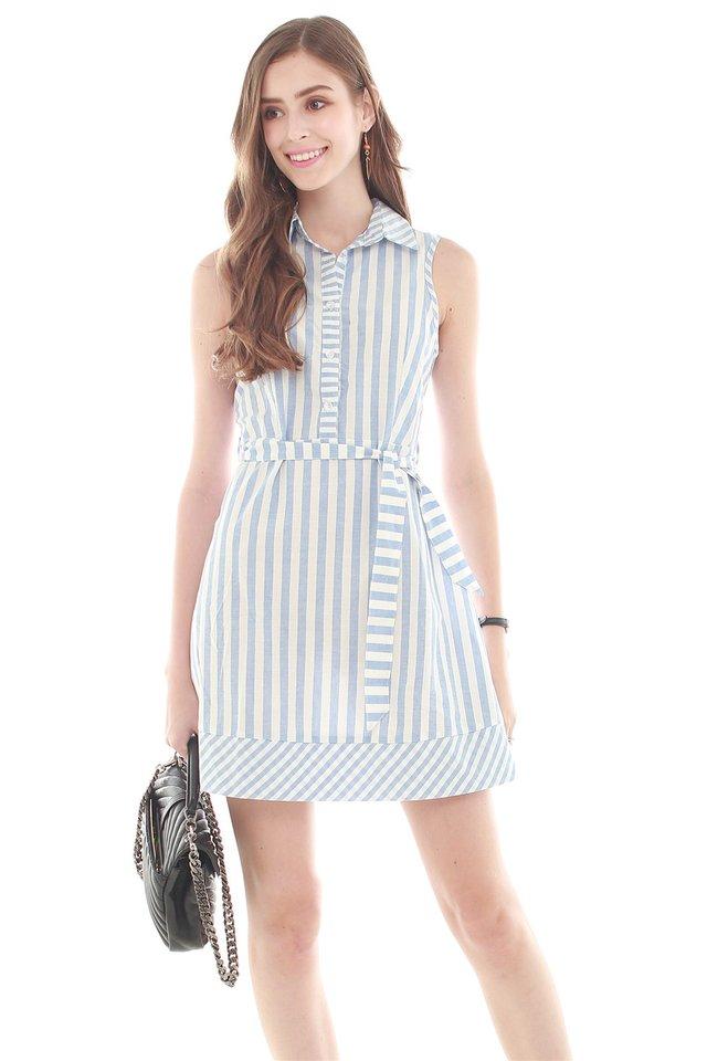 *Backorder* Summer Stripes Preppy Collared Dress