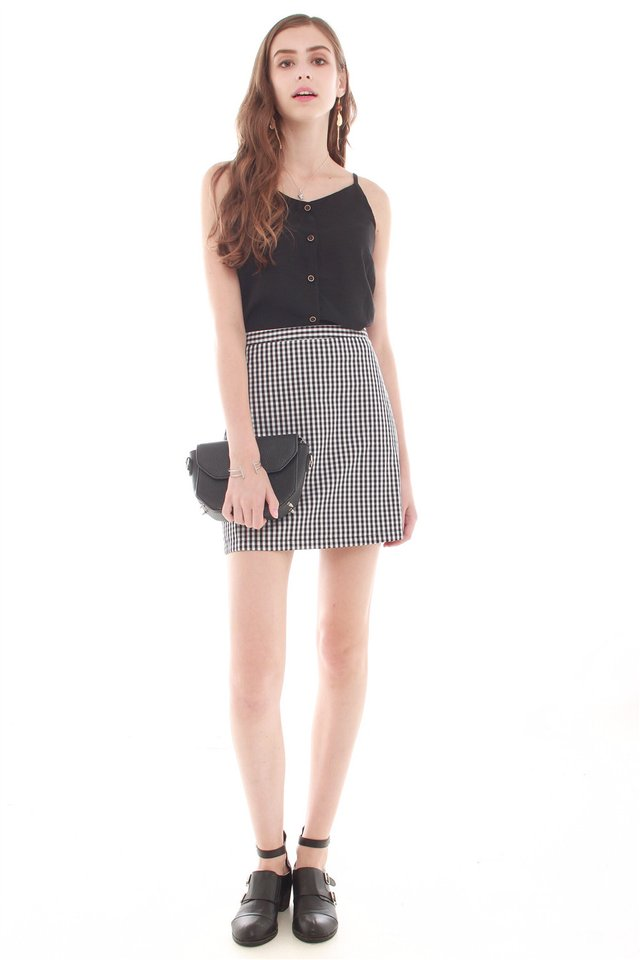 *BACK IN STOCK* Gingham Skirt