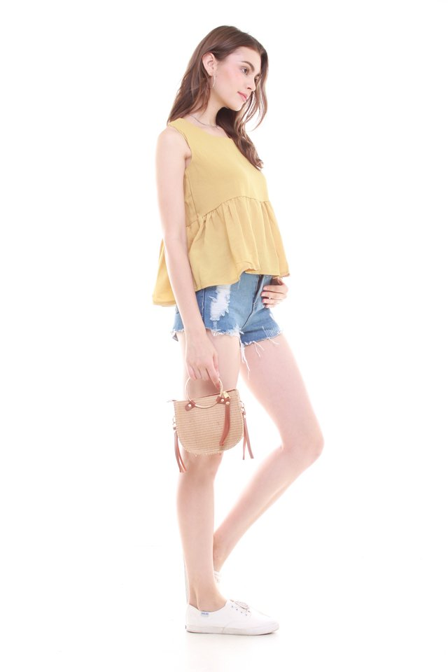 Babydoll Flare Top in Daffodil