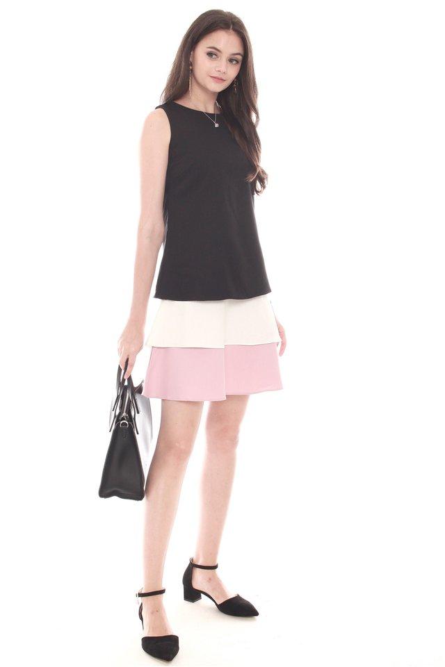 Triple Layered Dress in Black
