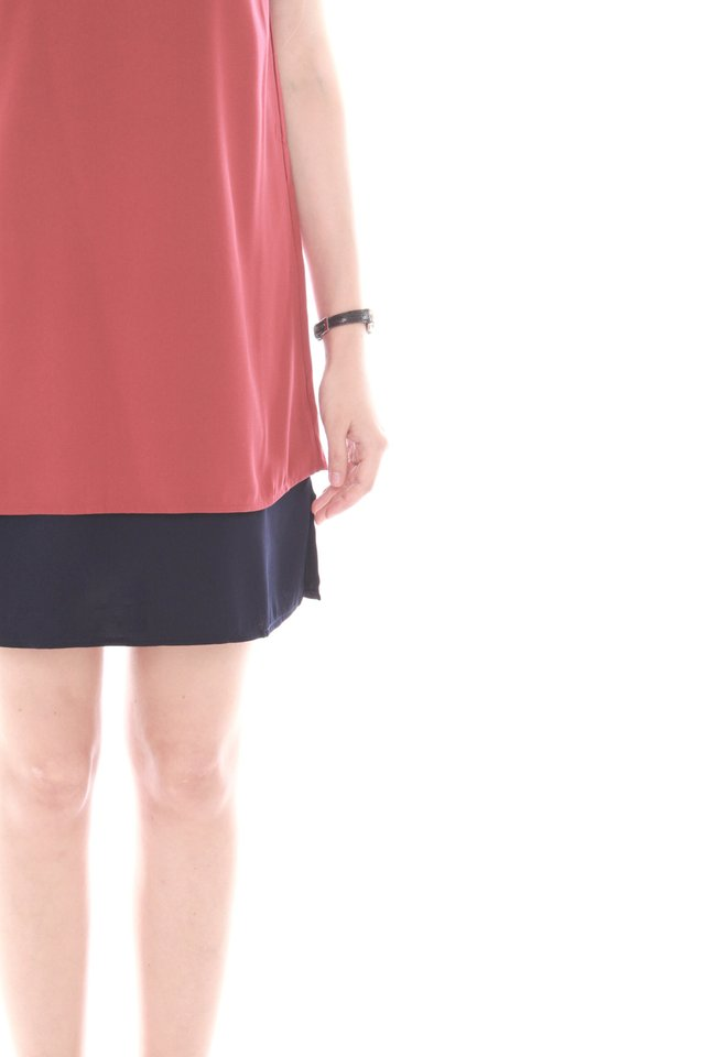 Double Layered Cami Dress in Terracotta