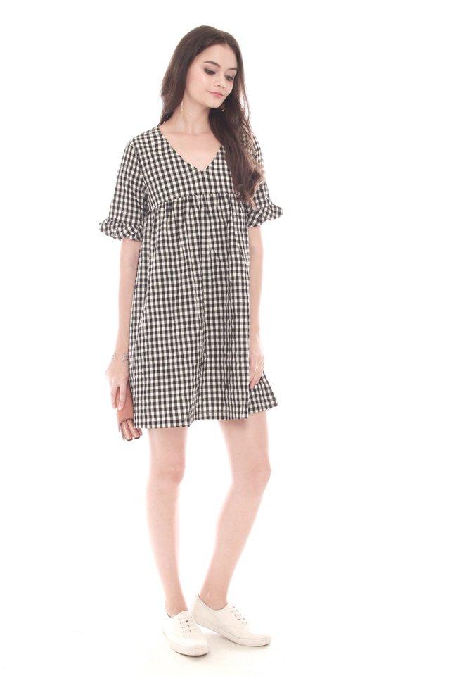 Gingham Babydoll Dress