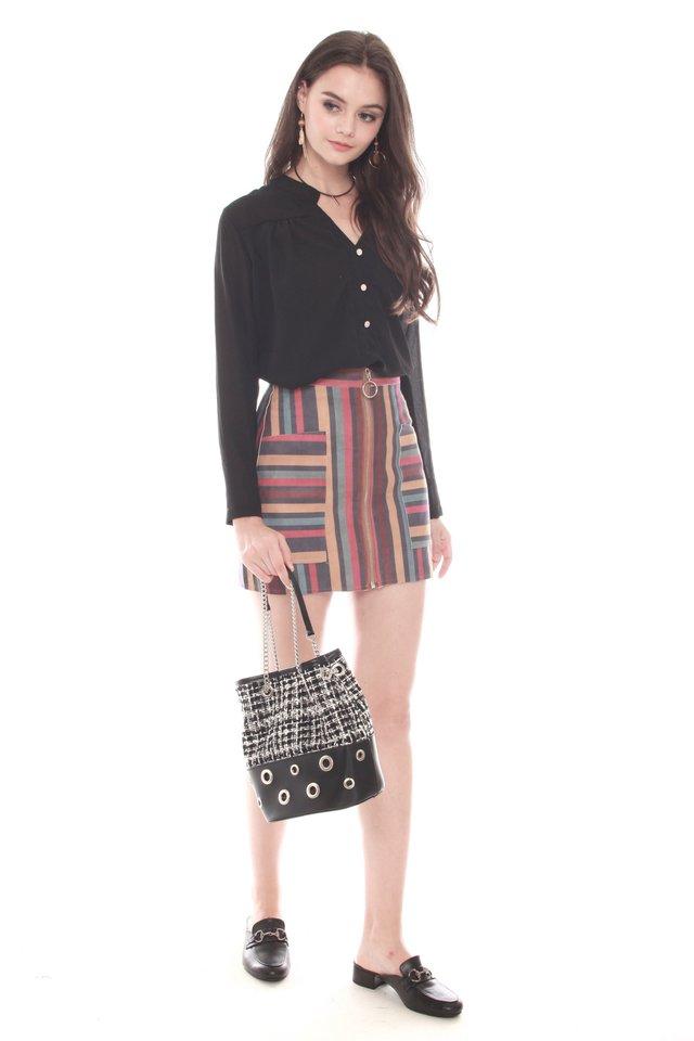 Coloured Multi Stripes Skirt
