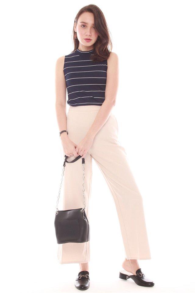 Side Pleat Pants in Khaki