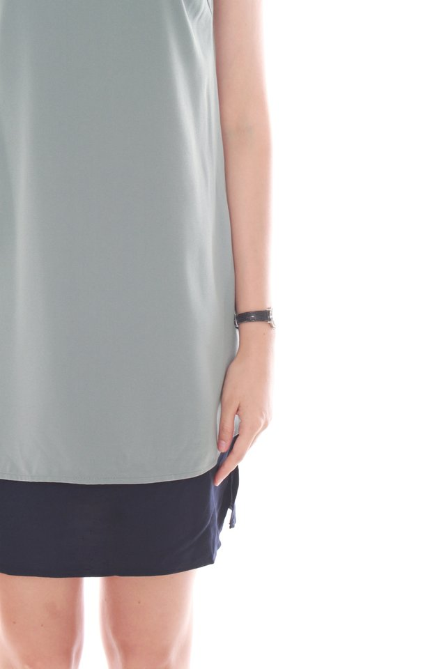Double Layered Cami Dress in Turquoise
