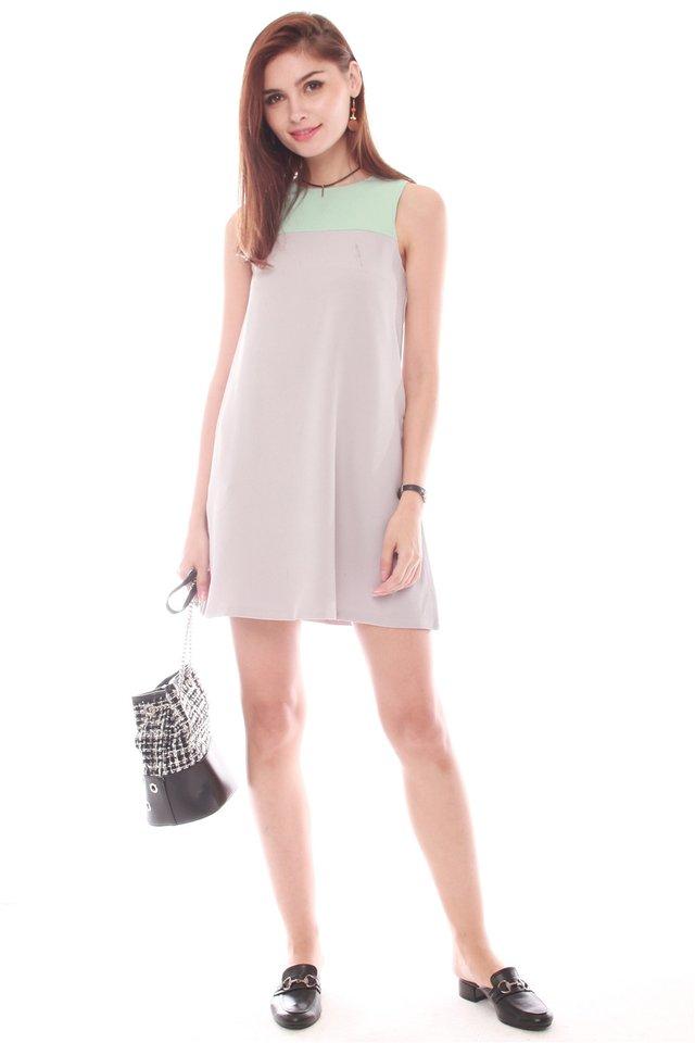 *BACK IN STOCK* ACW Colourblock Pocket Trapeze Dress in Mint