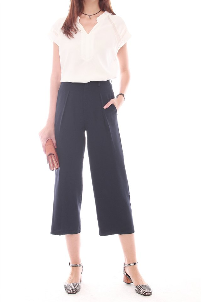 *Backorder* ACW Straight Cut Culottes in Navy (S/M)