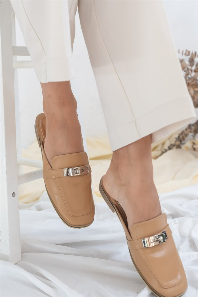 Interlock Buckle Loafers in Sand