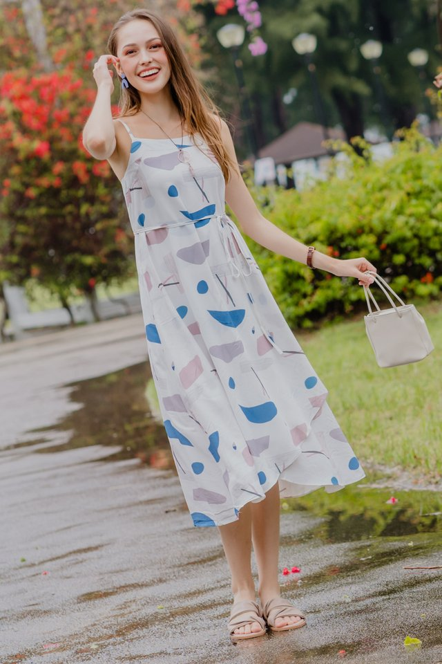 ACW Curve Overlap Midi Dress in Prints