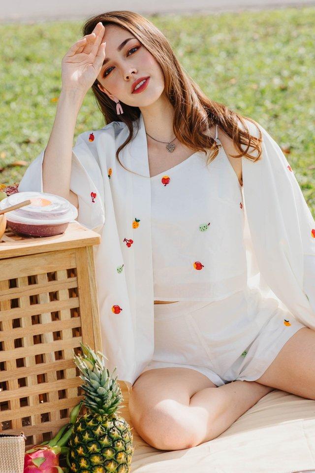 ACW Fruit Embroidery Printed Kimono