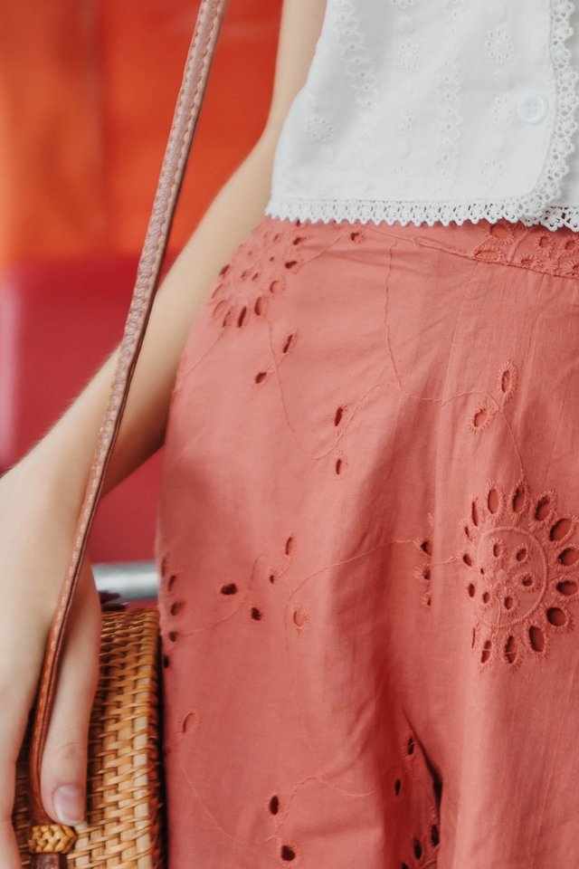 ACW Eyelet Pocket Shorts in Terracotta