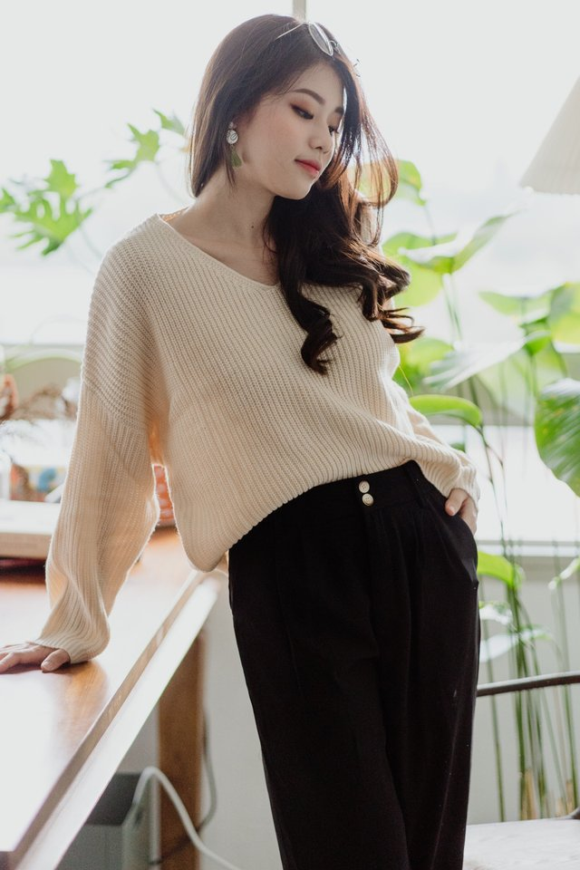 *BACK IN STOCK* ACW Cozy Soft Knit Sweater in Ivory