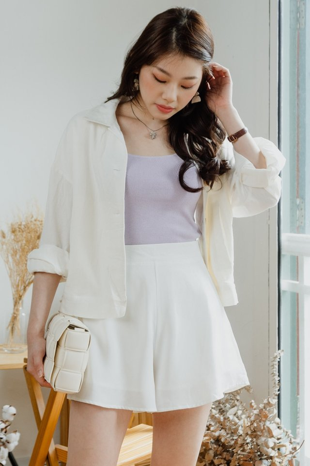 *BACKORDER* ACW Basic Square Neck Knit Top in Lilac