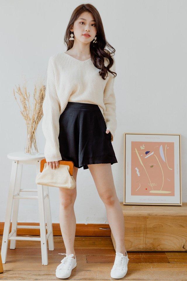 ACW Pocket Flare Shorts in Black
