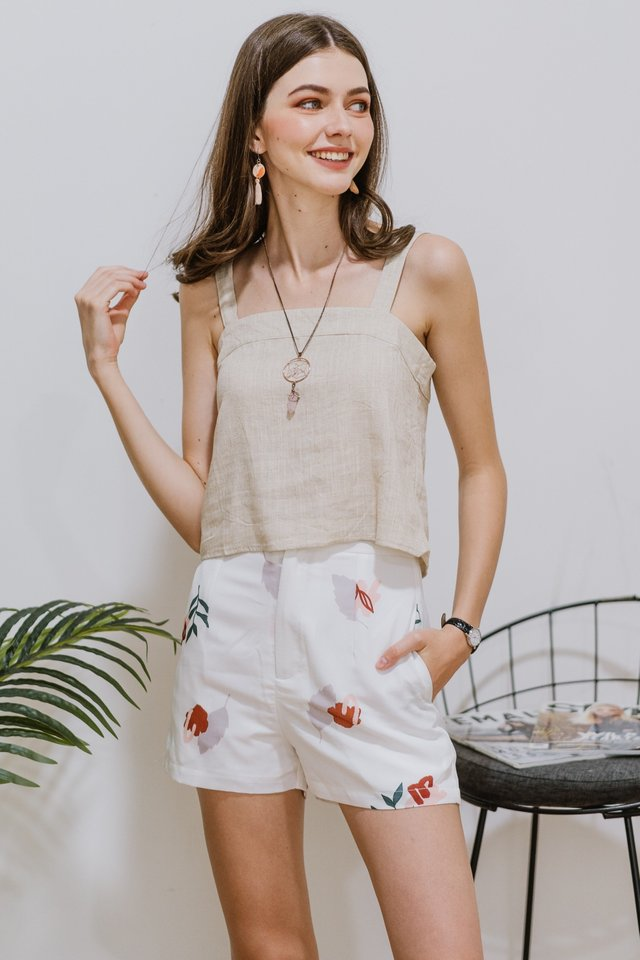 ACW Bloom Floral Pocket Shorts in White