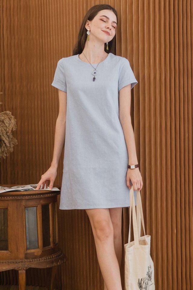 ACW Linen Sleeve Shift Dress in Lilac