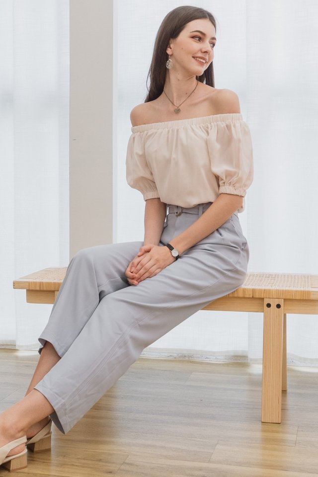 ACW Belted Palazzo Pants in Lilac