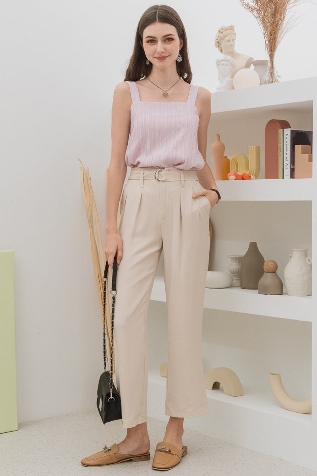 ACW Belted Palazzo Pants in Ivory