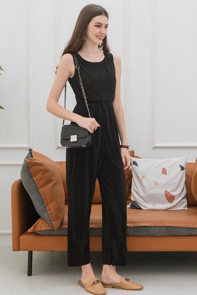 ACW Fine Pleats Jumpsuit in Black