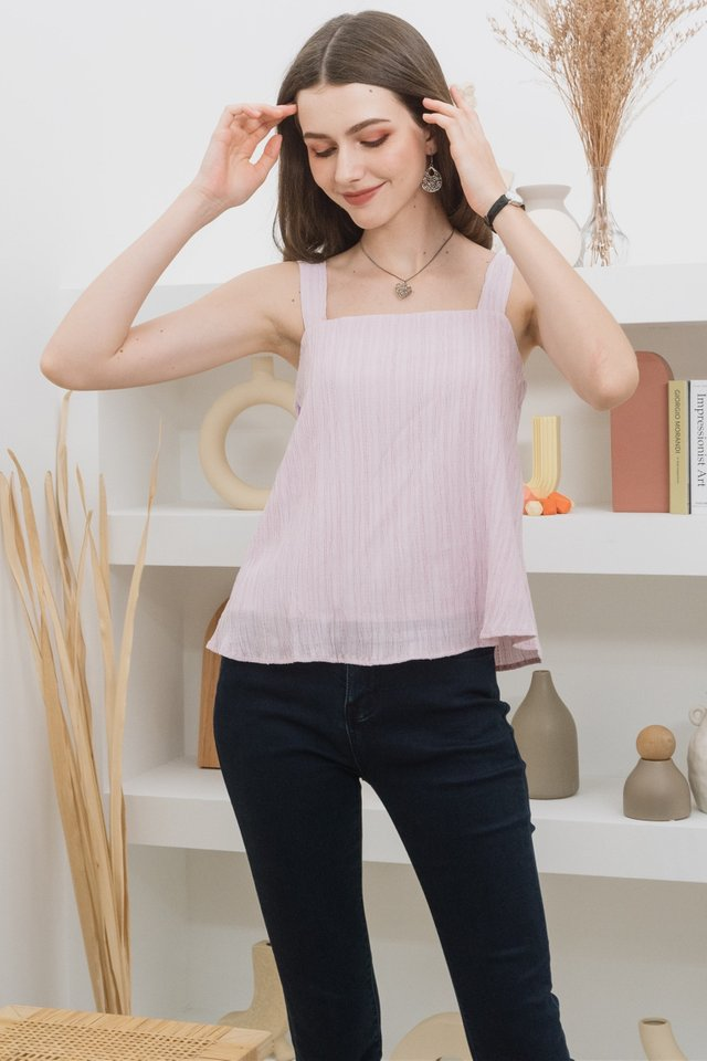 ACW Textured Swing Top in Blush