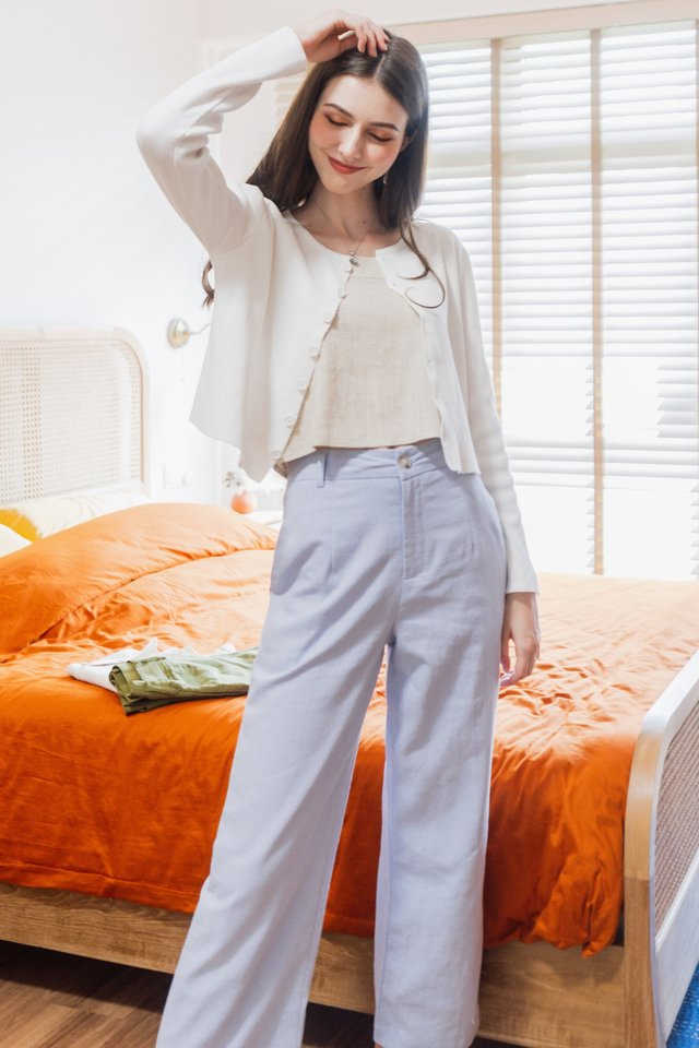 ACW Linen Pocket Trousers in Lilac