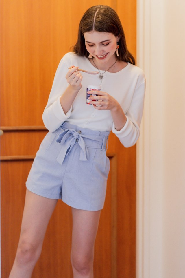ACW Linen Paperbag Shorts in Lilac