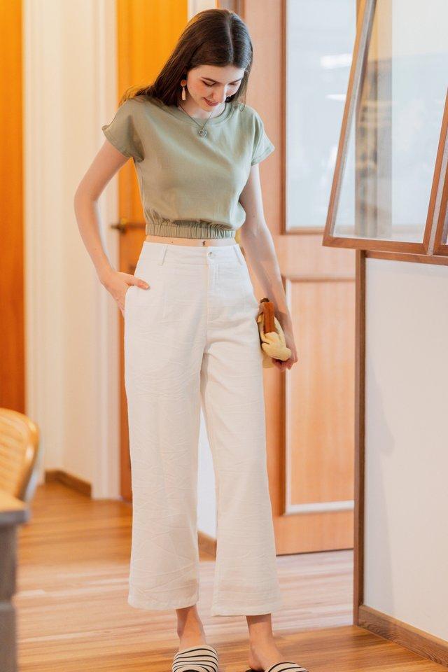 ACW Linen Pocket Trousers in White