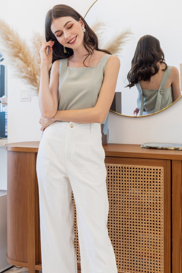 ACW Adjustable Button Swing Top in Sage