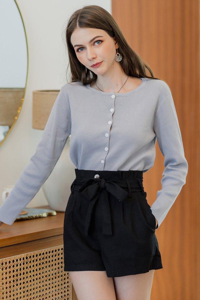 ACW Linen Paperbag Shorts in Black