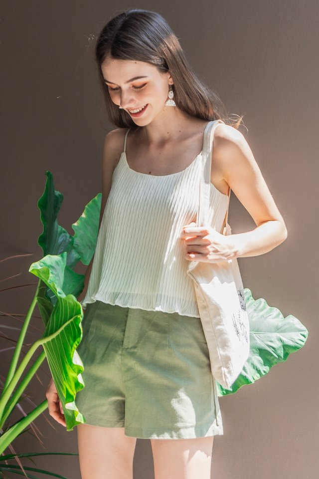 ACW Pleated Cami Top in Ivory