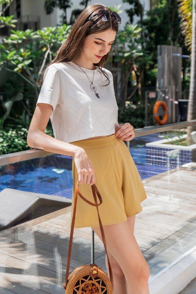 ACW Pocket Flare Shorts in Daffodil