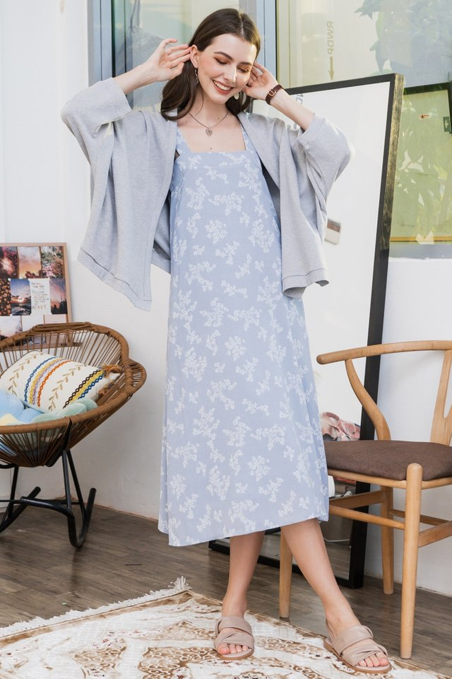 ACW Slouchy Oversized Knit Cardigan in Light Grey