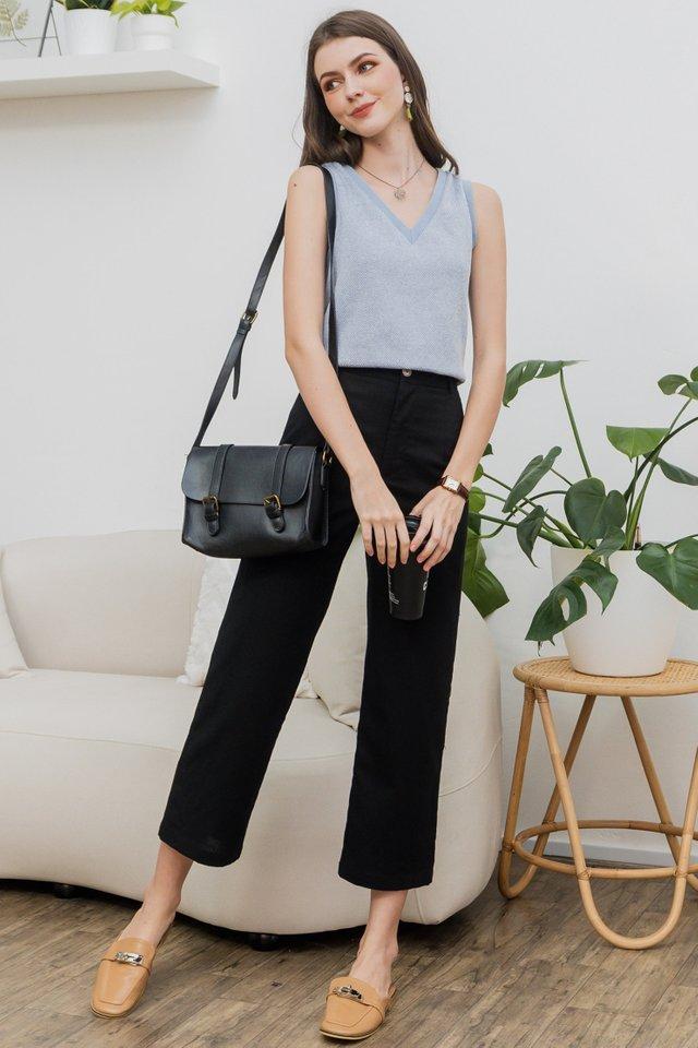 ACW Linen Pocket Trousers in Black